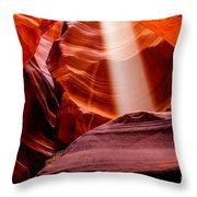 Antelope Canyon Beam Throw Pillow
