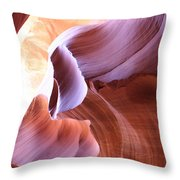 Antelope Canyon Colorful Waves Throw Pillow
