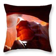 Antelope Canyon Sunbeams Throw Pillow