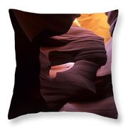 Antelope Canyon Touch Of Magic Throw Pillow