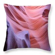 Antelope Canyon Waves Throw Pillow