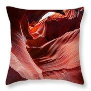Antelope Crevice Throw Pillow
