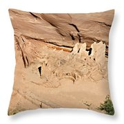 Antelope House Ruins Blending In Throw Pillow