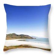 Antelope Island And Utah Vertical Throw Pillow