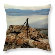 Antelope Island Sunset - 3 Throw Pillow