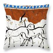 Antelope Of Akrotiri - Study No. 2 Throw Pillow