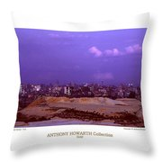 Anthony Howarth Collection - Gold - Golden Mine Dumps - South Africa Throw Pillow
