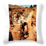 Anthony Howarth Collection - Gold- Re-working Old Mines - S.a. Throw Pillow