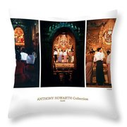Anthony Howarth Collection - Gold - Simply Buddha? Mandalay Throw Pillow