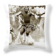 Anthony Howarth Collection - Gold - Sunday Mine Dance 2 - S.a. Throw Pillow