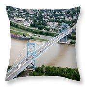 Anthony Wayne Bridge Toledo Ohio Throw Pillow