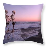 Anthropology Shared Similarities  Throw Pillow