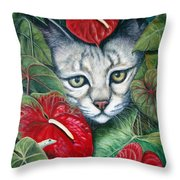 Anthurium Assassins Throw Pillow
