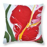 Anthurium Fire Throw Pillow