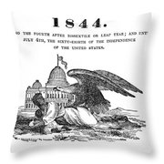 Anti-slavery Almanac, 1844 Throw Pillow