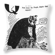 Anti-trust Cartoon, 1902 Throw Pillow