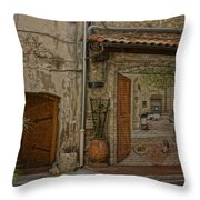 Antibes France Scene Paintings Dsc02278  Throw Pillow