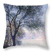Antibes Seen From The Salis Throw Pillow