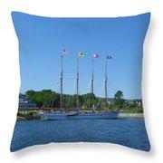 Anticipating The Bar Harbor Experience Throw Pillow