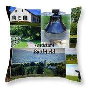 Antietam Collage Throw Pillow