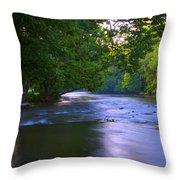 Antietam Creek - Hagerstown Maryland Throw Pillow