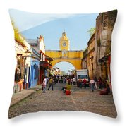 Antigua Guatemala Clock Throw Pillow