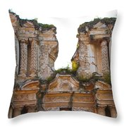 Antigua Ruins Throw Pillow