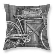 Antiquated Bike Throw Pillow