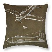 Antique Airplane Patent Throw Pillow