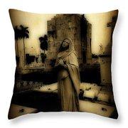 Antique Angel Throw Pillow