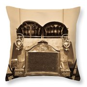 Antique Auto In Sepia Throw Pillow