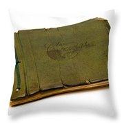 Antique Autograph Book Throw Pillow