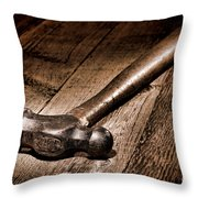 Antique Blacksmith Hammer Throw Pillow by Olivier Le Queinec