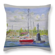Antique Boat Museum-clayton Ny Throw Pillow