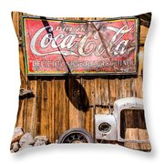 Antique Building At The Techatticup Gold Mine Throw Pillow