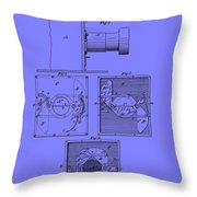 Antique Camera Patent 1883 Throw Pillow