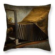 Antique Camera Throw Pillow by Susan Candelario