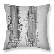 Antique Cannon Patent 1897 Throw Pillow