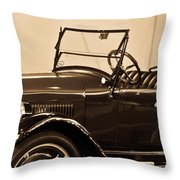 Antique Car In Sepia 1 Throw Pillow