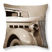 Antique Car In Sepia 2 Throw Pillow