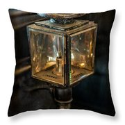 Antique Carriage Lamp Throw Pillow