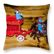 Antique Cast Iron Toy Throw Pillow