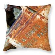 Antique Chevrolet Farm Truck Throw Pillow