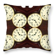Antique Clock Abstract . Horizontal Throw Pillow by Renee Trenholm