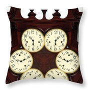 Antique Clock Abstract . Standard Throw Pillow by Renee Trenholm