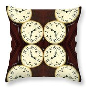 Antique Clock Abstract . Vertical Throw Pillow by Renee Trenholm