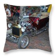 Antique Custom Hotrod Throw Pillow