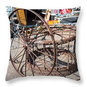 Fayetteville Texas Rings And Wheels Throw Pillow