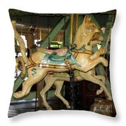 Antique Dentzel Menagerie Carousel Cat Throw Pillow by Rose Santuci-Sofranko