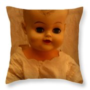 Antique Doll 1 Throw Pillow